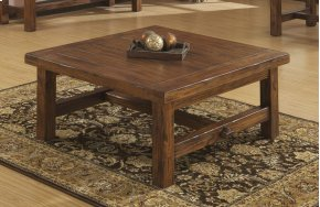 Emerald Home Chambers Creek Square Cocktail Table Brown T4120