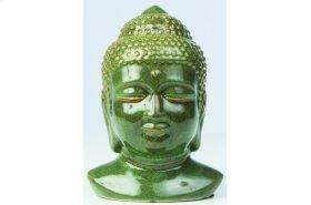 Green Ceramic Buddha Head