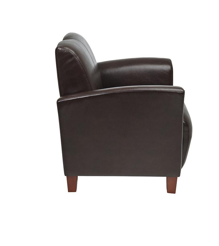 Mocha Bonded Leather Breeze Club Chair