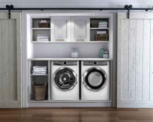 Front Load Perfect Steam Electric Dryer with PredictiveDry and Instant Refresh - 8.0. Cu. Ft.