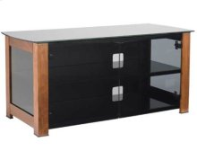 """Chestnut - Discontinued Widescreen Lowboy Smoked tempered-glass doors - fits AV components and TVs up to 55"""""""