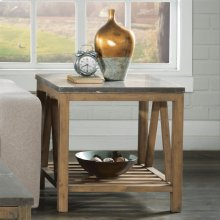 Weatherford - Rectangular Side Table Base - Bluestone Finish