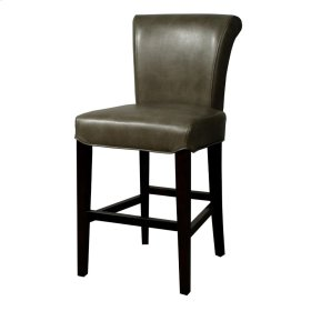 Bentley Bonded Leather Counter Stool, Quarry