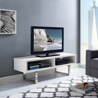 "Amble 47"" Low Profile TV Stand in White"