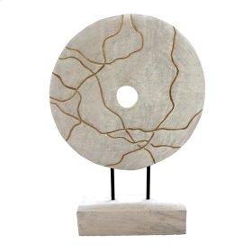 Mango Wood Disc On Stand