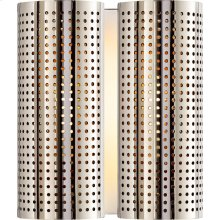 Visual Comfort KW2063PN Kelly Wearstler Precision 2 Light 8 inch Polished Nickel Sconce Wall Light, Kelly Wearstler