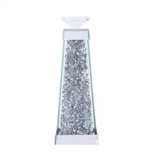 Sparkle 4.7 in. Contemporary Silver Crystal Candleholder