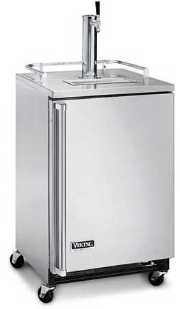 """Brass 24"""" Freestanding Beverage Dispenser - VRBD (Solid door, freestanding)"""