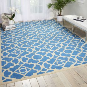 Sun N' Shade Snd04 Azure Rectangle Rug 10' X 13'