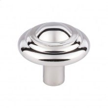 Aspen II Button Knob 1 3/4 Inch - Polished Nickel