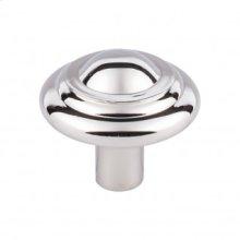 Aspen II Button Knob 1 3/4 Inch - Polished Nickel