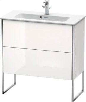Vanity Unit Floorstanding Compact, White High Gloss (decor)