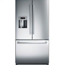 800 Series French Door Bottom freezer, 3 doors Stainless steel, Inox-easyclean B26FT50SNS