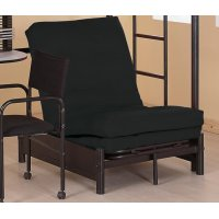 Contemporary Black Small Futon Pad Product Image