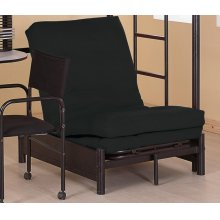 Contemporary Black Small Futon Pad