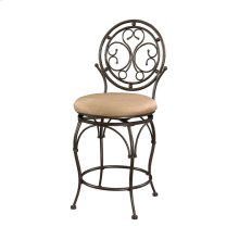 Big and Tall Scroll Circle Back Counter Stool