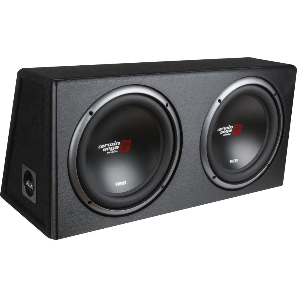 XED Series X9E10DV Dual 10-Inch Subwoofers in Loaded Enclosure