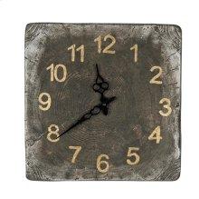 Wood Grain Carved Clock