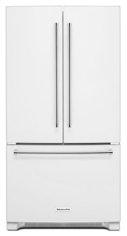 20 cu. ft. 36-Inch Width Counter-Depth French Door Refrigerator with Interior Dispense - White Product Image