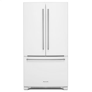 Kitchenaid20 cu. ft. 36-Inch Width Counter-Depth French Door Refrigerator with Interior Dispense - White