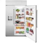 """Caf(eback)(tm) 48"""" Smart Built-In Side-By-Side Refrigerator With Dispenser"""