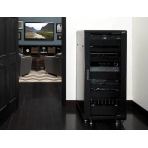 "Sanus55"" Tall AV Rack 27U Component rack for home theater equipment"