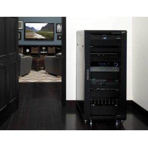 """Sanus55"""" Tall AV Rack 27U Component rack for home theater equipment"""