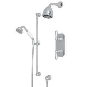 Polished Chrome Edwardian U.KIT52L Thermostatic Shower Package with Edwardian Metal Lever
