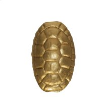 Turtle Shell Sconce In Gold Leaf. Ul Approved for One 40w Candelabra Bulb.