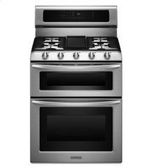 5-Burner Gas Freestanding Double Oven Range, Architect® Series II - Stainless Steel