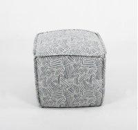 Pouf ottoman w/ flange sewn seams Product Image