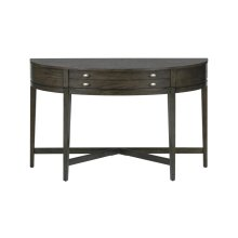 Antique Gray Demilune Sofa Table