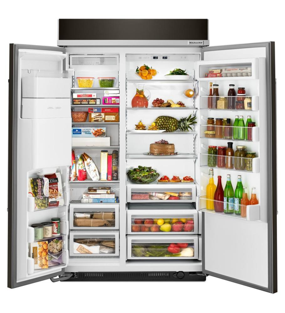 kitchenaid 48 refrigerator. KITCHENAID 29.5 Cu. Ft 48-Inch Width Built-In Side By Refrigerator Kitchenaid 48 I