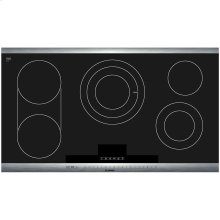 800 Series 36 Stainless Steel Electric Cooktop with SteelTouch Control and AutoChef