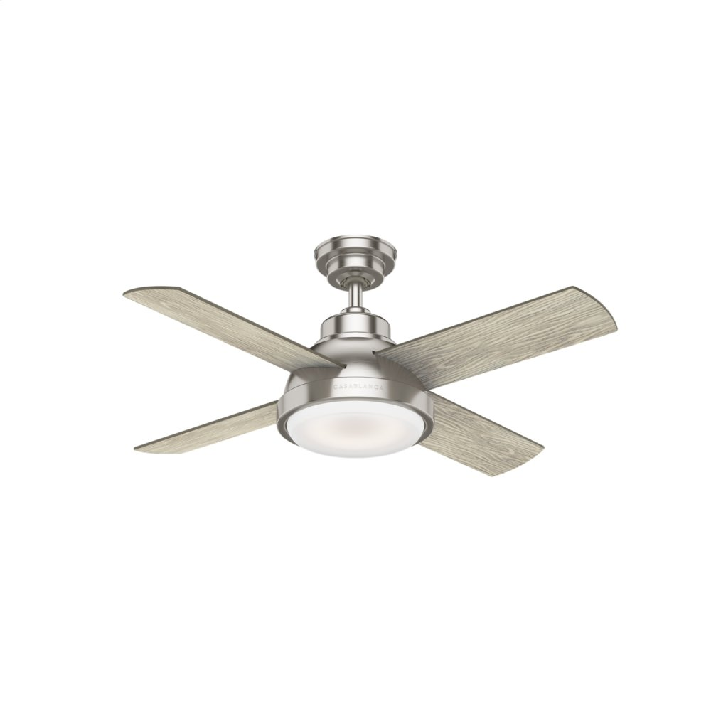 Levitt with LED Light 44 inch Ceiling Fan  BRUSHED NICKEL