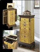 "Masterpiece ""Antique Parchment"" Hand Painted Jewelry Armoire Product Image"