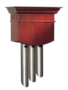 Traditional Musical Wired Door Chime, 12w x 18-3/4h x 4-7/8d in Cherry finish