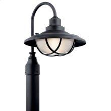 Harvest Ridge 1 Light Post Light Textured Black