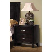 Nacey Dark Brown Two-drawer Nightstand
