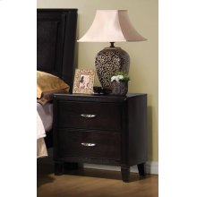 Nacey Dark Brown Two-drawer Nightstand