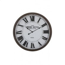 Clock 78x7 cm BANBURY white+brown