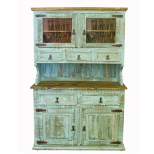 2 PC Turquoise China Cabinet