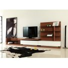 Modrest Jefferson Modern Walnut and White High Gloss TV Unit Product Image