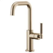 Bar Faucet With Square Spout and Knurled Handle