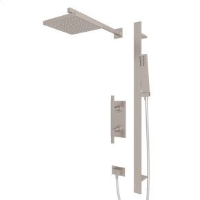 Satin Nickel WAVE WAVEKIT50L THERMOSTATIC SHOWER PACKAGE with Metal Lever