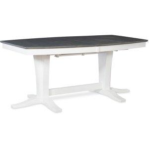 JOHN THOMAS FURNITUREMilano Double Pedestal Extension Table in Heather Gray & White