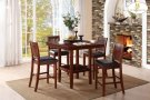 5-Piece Pack Counter Height Set Table: 40 x 40 x 36H Chair: 18 x 21 x 39H Product Image