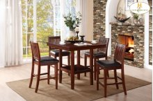 5-Piece Pack Counter Height Set Table: 40 x 40 x 36H Chair: 18 x 21 x 39H