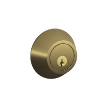J Series One Side Keyed Deadbolt - Bright Brass