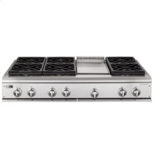 """GE Monogram® 48"""" Professional Gas Cooktop with 6 Burners and Griddle (Liquid Propane)"""